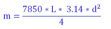 Công thức tính khối lượng cây thép tròn